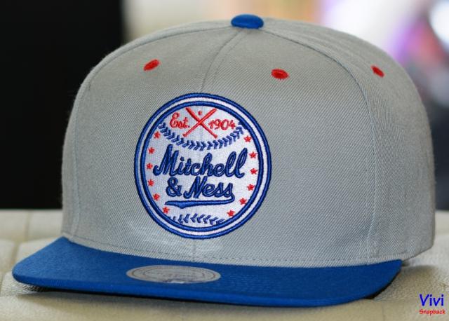 Mitchell & Ness Logo Est 1904 Bassball Snapback 2Tone
