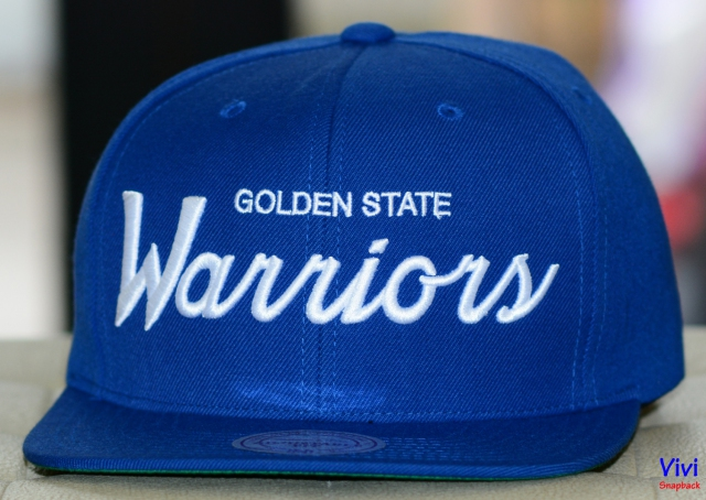Mitchell & Ness Golden State Warriors Script Snapback
