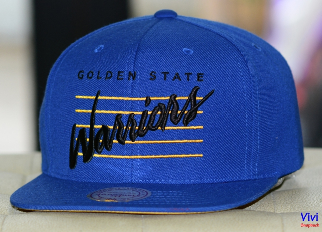 Mitchell & Ness Warriors Cursive Script Cotton Snapback