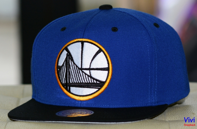 Mitchell & Ness Golden State Warriors Big Logo 2Tone Snapback
