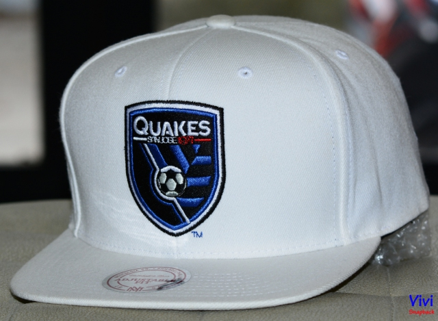 Mitchell & Ness San Jose Earthquakes Logo Snapback White