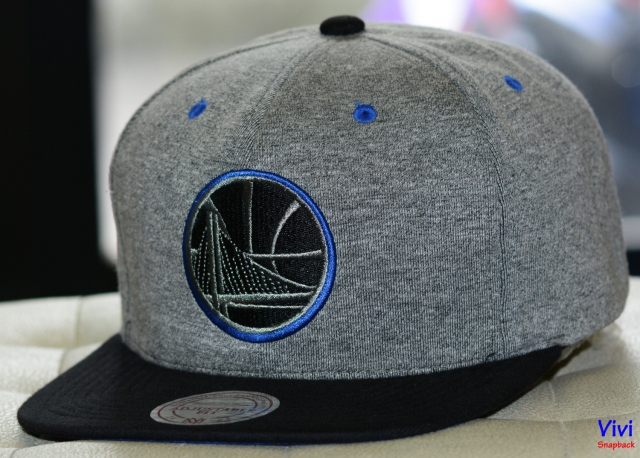 Mitchell & Ness Golden State Warriors Broad Street 2.0 Snapback Grey/Black
