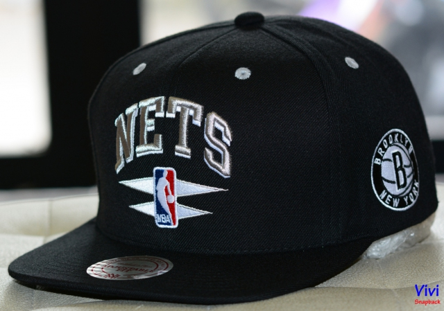 Mitchell & Ness Nets NBA Double Diamond Snapback Black