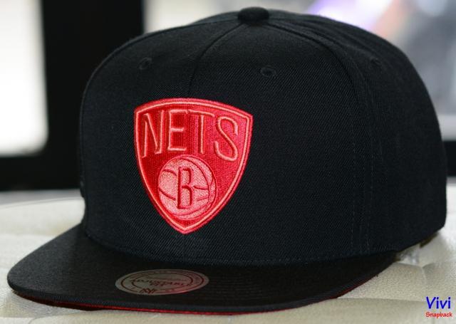 Mitchell & Ness Nets NBA Eastern Metallic Scrip Snapback Black